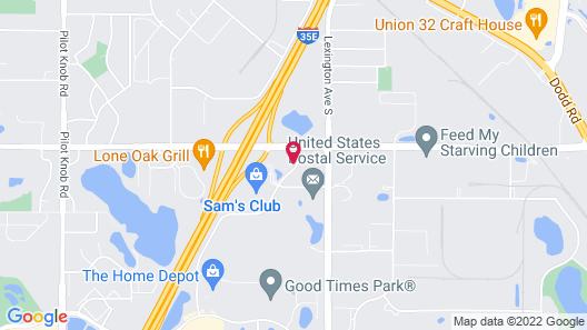 Extended Stay America Suites Minneapolis Airport Eagan North Map