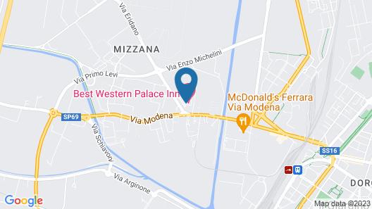 Best Western Palace Inn Hotel Map