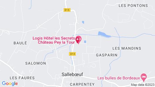 Les Secrets Château Pey La Tour Map