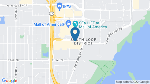 Country Inn & Suites by Radisson, Bloomington at Mall of America, MN Map