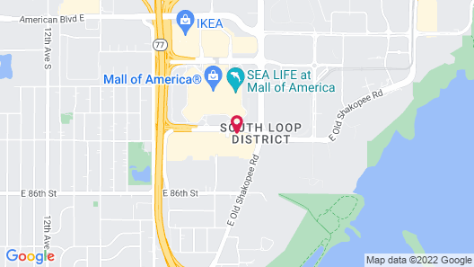 Homewood Suites - Mall of America Map