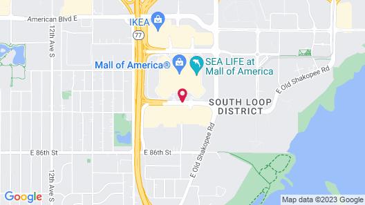 Radisson Blu Mall of America Map