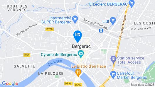Hôtel de France Bergerac Map