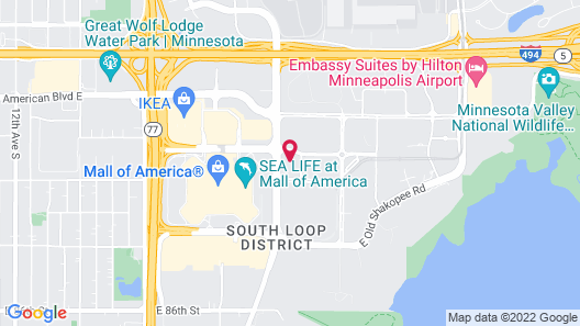 AC Hotel Bloomington Mall of America Map