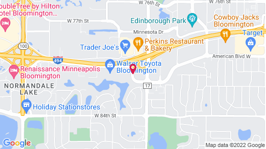 Hilton Minneapolis/Bloomington Map