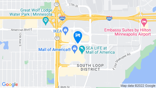 JW Marriott Minneapolis Mall of America Map