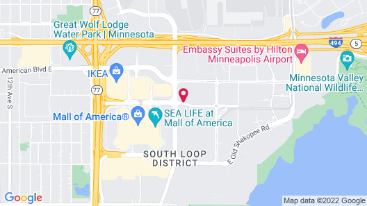 TownePlace Suites Minneapolis near Mall of America Map