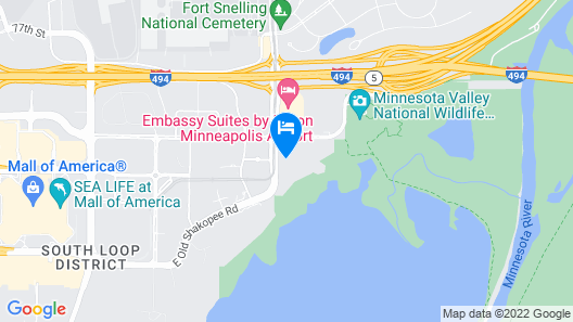 Crowne Plaza Aire MSP Airport - Mall of America, an IHG Hotel Map