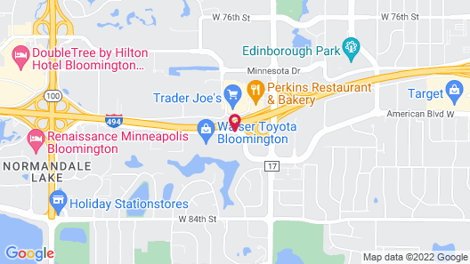 AmericInn by Wyndham Bloomington Minneapolis Map