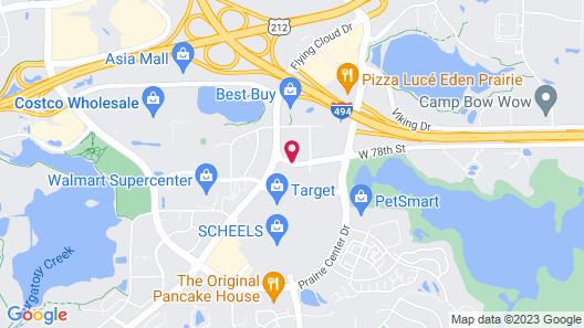 Best Western Eden Prairie Inn Map