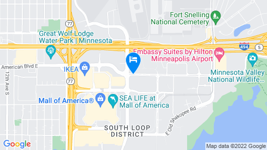 Fairfield Inn & Suites by Marriott Minneapolis Bloomington/Mall of America Map