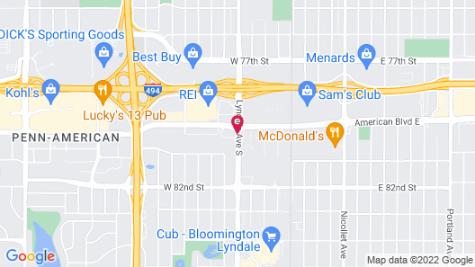 Extended Stay America Minneapolis - Bloomington Map