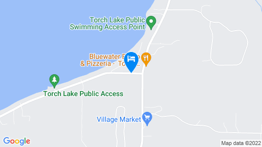 South Torch Lake Chalet- Huge Sandy Beach for Enjoying the Water Map