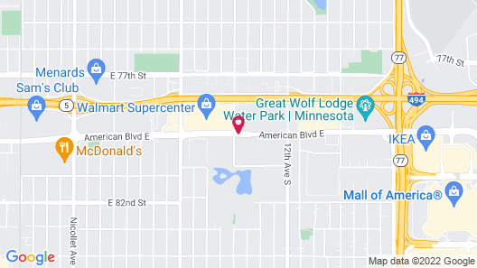 Quality Inn & Suites Mall of America - MSP Airport Map