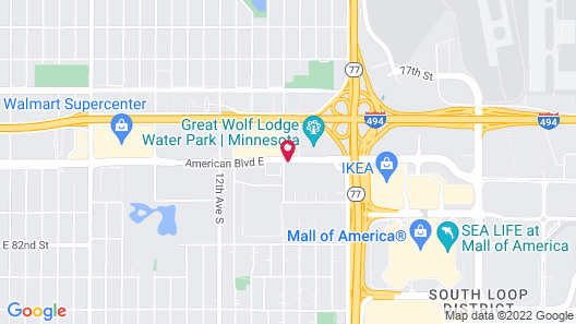 Hilton Garden Inn Minneapolis Airport Mall of America Map