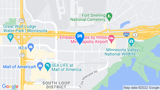 SpringHill Suites Minneapolis-St Paul Airpt/Mall of America Map