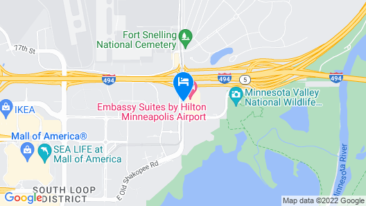 Embassy Suites by Hilton Minneapolis Airport Map