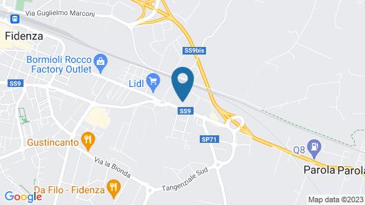 Fidenza Hotel Map