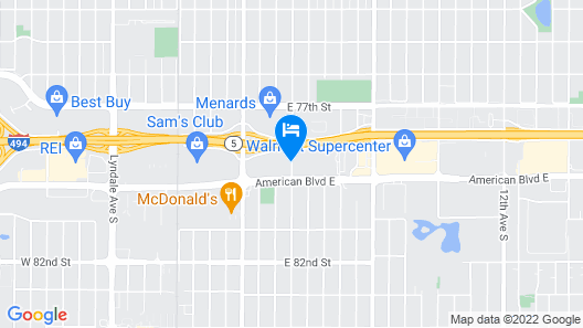 Super 8 by Wyndham Bloomington/Airport Map