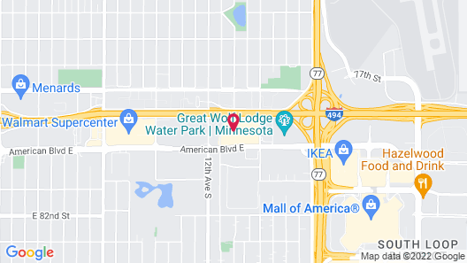Comfort Inn MSP Airport - Mall of America Map