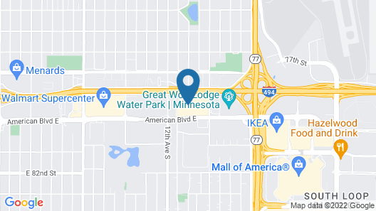 Comfort Inn MSP Airport - Mall of America Map