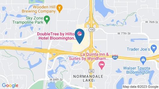 Sheraton Bloomington Hotel Map