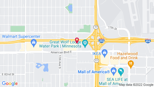 Courtyard by Marriott Bloomington by Mall of America Map