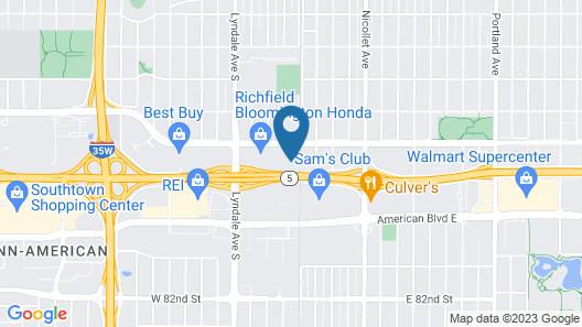 Sonesta Simply Suites Minneapolis Richfield Map
