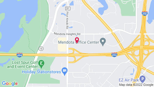 Courtyard by Marriott Minneapolis-St. Paul Airport Map