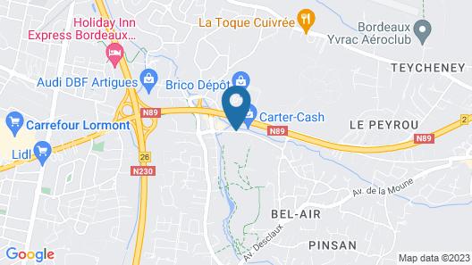 Fasthôtel Bordeaux Artigues Map