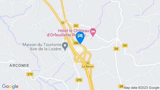 Kyriad Saint Chely d'Apcher - Aire de la Lozère Map