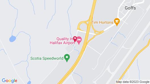 Quality Inn Halifax Airport Map