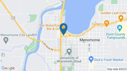 Cobblestone Inn & Suites at UW Stout Downtown Menomonie Map