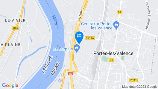 Hôtel Valence Sud Map