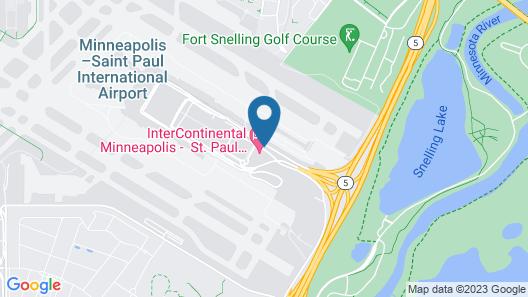 InterContinental Minneapolis - St. Paul Airport Map