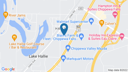 Holiday Inn Express & Suites Eau Claire North Map