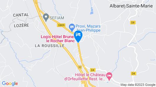 Logis De France Le Rocher Blanc Map
