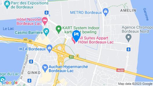 All Suites Appart hotel Bordeaux Lac Map