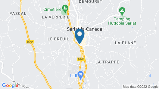 Les Appartements Chambon Map