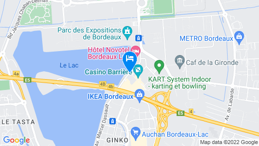 Hotel Pullman Bordeaux Lac Map