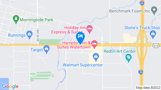 Hampton Inn and Suites Watertown Map