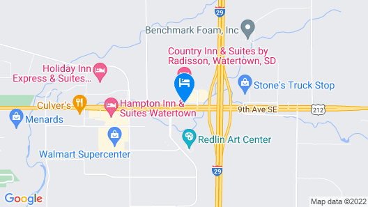 Quality Inn & Suites Watertown Map