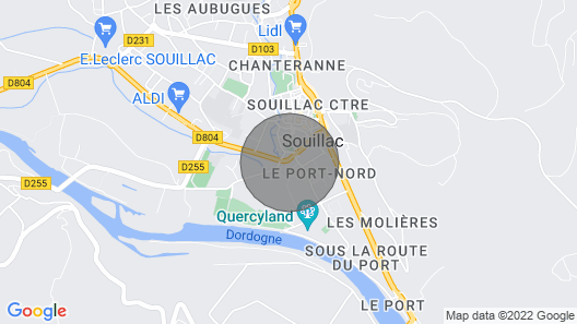 Beautifully Converted House Situated in the Center of Souillac Map