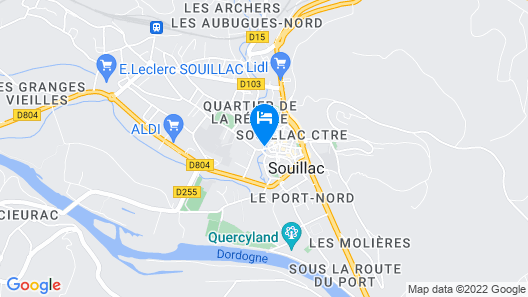 Hotel Le Quercy Map