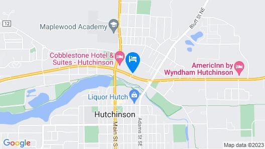 Cobblestone Hotel & Suites - Hutchinson Map