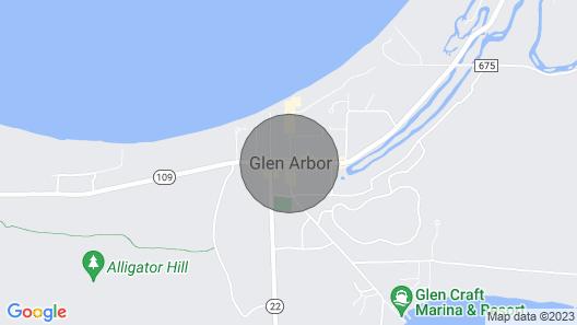 Homestead Beachfront Condo in Glen Arbor Accommodating 7! Map