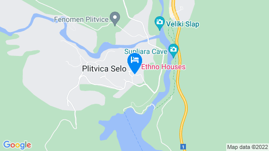 Ethno Houses Plitvica Selo Map