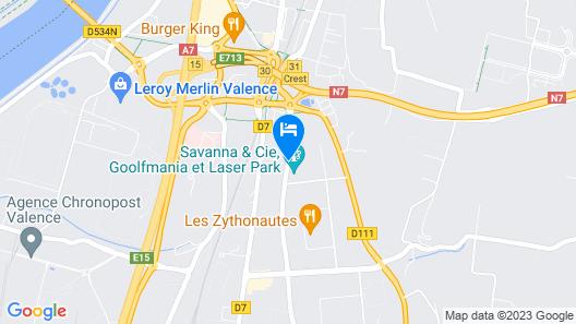Première Classe Valence Sud Map