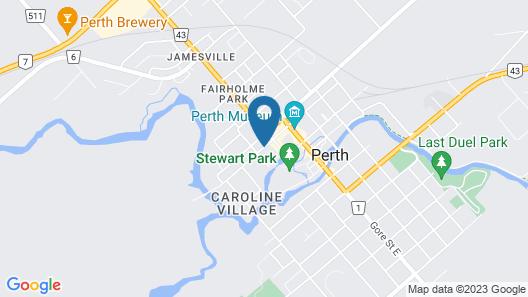 Best Western Plus Perth Parkside Inn & Spa Map