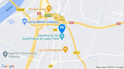 B&B Hotel Valence Sud Map